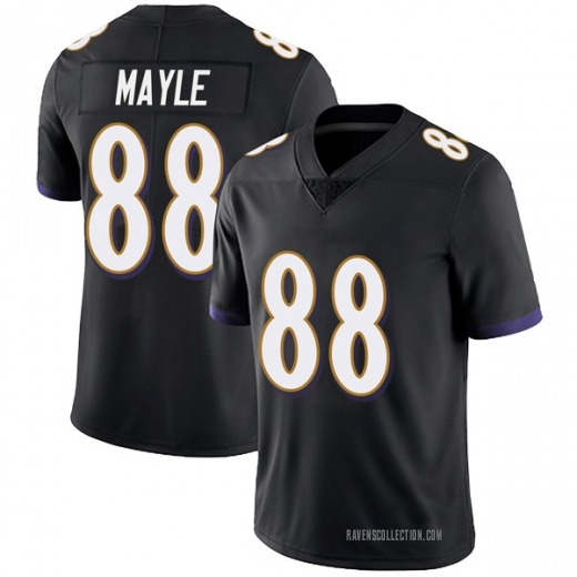 sale retailer 609c6 7b9ad Limited Youth Vince Mayle Baltimore Ravens Nike Alternate Vapor Untouchable  Jersey - Black